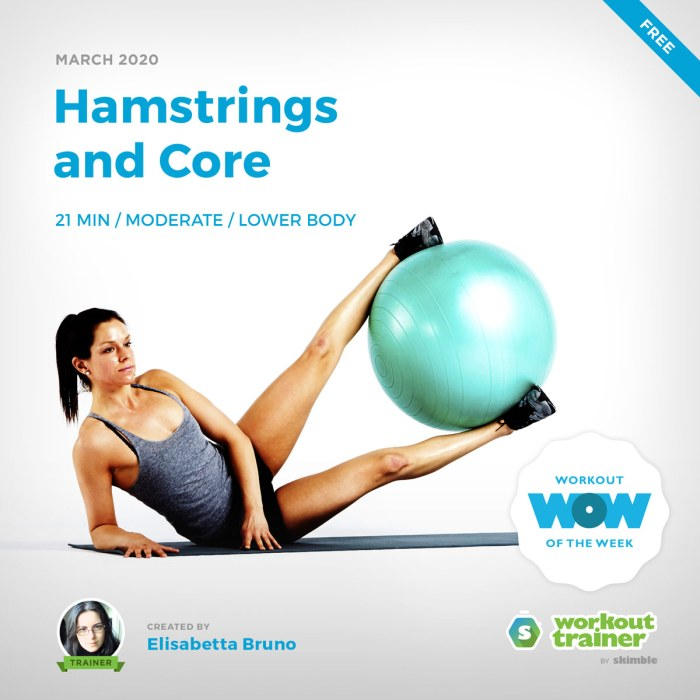 Workout Trainer by Skimble: Free Workout of the Week: Hamstrings and Core by Elisabetta Bruno