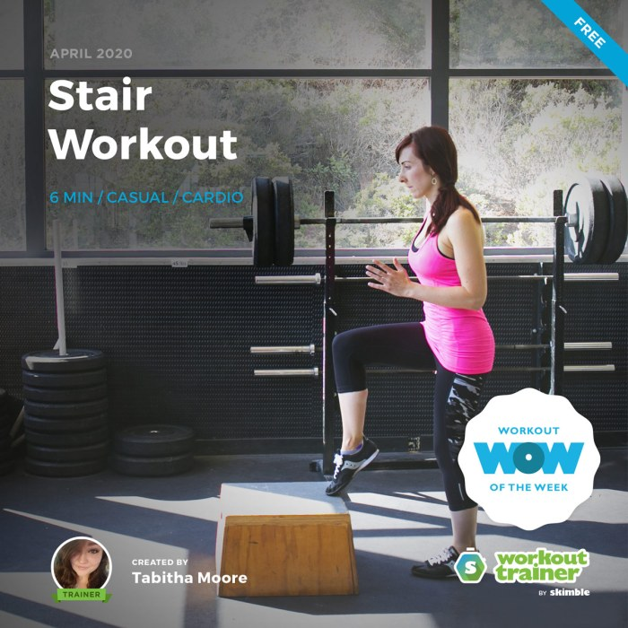Workout Trainer by Skimble: Free Workout of the Week: Stair Workout by Tabitha Moore