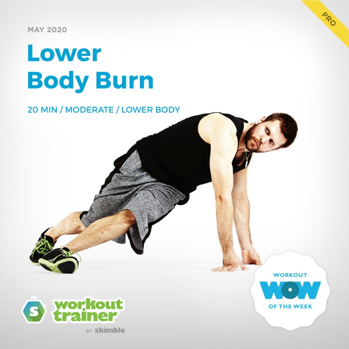 Workout Trainer by Skimble: Pro Workout of the Week: Lower Body Burn